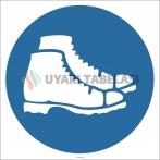 EF2884 - Koruyucu Ayakkabı İşareti/Levhası/Etiketi