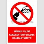 EF2927 - Prizdeki Fişleri Kablodan Tutup Çekerek Çıkarmak Yasaktır