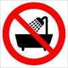 EF2981 - Sulu Ortamlarda, Su Yakınında Kullanmayın İşareti/Levhası/Etiketi