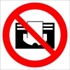 EF2978 - Radyatörün Üzerini Örtmeyin İşareti/Levhası/Etiketi