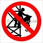 EF2946 - İskeleden Malzeme Atmak Yasaktır İşareti/Levhası/Etiketi