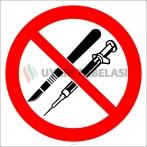 EF2934 - Kesici Delici Aletler Yasaktır İşareti/Levhası/Etiketi
