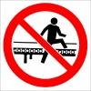 EF2932 - Konveyör Bantın Üzerine Çıkmak Yasaktır İşareti/Levhası/Etiketi