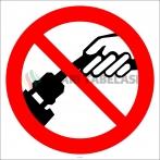 EF2928 - Fişi Prizden Kablodan Çekerek Çıkarmak Yasaktır İşareti/Levhası/Etiketi