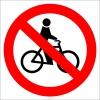 EF2912 - Bisiklet Giremez İşareti/Levhası/Etiketi