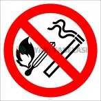 EF2856 - Açık Alev, Ateş Yakmak, Sigara İçmek Yasaktır İşareti/Levhası/Etiketi