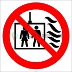EF2990 - Yangın Durumunda Asansörü Kullanmayın İşareti/Levhası/Etiketi
