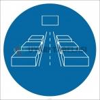 PF1001 - Geçiş Yollarını Açık Tutun İşareti/Levhası/Etiketi