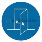 PF1003 - Kapıyı Kapatın İşareti/Levhası/Etiketi