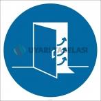 PF1035 - Kapıyı Kapatın İşareti/Levhası/Etiketi