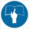 PF1006 - Kullanma Talimatını Okuyun İşareti/Levhası/Etiketi
