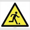 PF1016 - Dikkat Tökezleme Düşme Tehlikesi İşareti