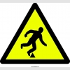 PF1080 - Dikkat! Engel Var  Tökezleme Düşme Tehlikesi İşareti