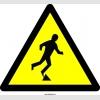 PF1081 - Dikkat! Engel Var Tökezleme Düşme Tehlikesi İşareti