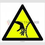 PF1102 - Dikkat! El Kesilme/YaralanmaTehlikesi İşareti