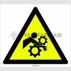 PF1155 - Dikkat El ve Kol Kaptırma Tehlikesi İşareti