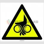 PF1156 - Dikkat! El Sıkışma/Ezilme Tehlikesi İşareti