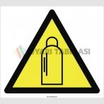 PF1021 - Dikkat! Basınçlı Tüp Tehlikesi İşareti