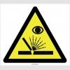 PF1158 - Dikkat! Yüze/Göze Çapak Sıçrama Tehlikesi İşareti