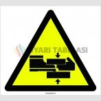 PF1089 - Dikkat! El ve Ayak Sıkışma/Ezilme Tehlikesi İşareti