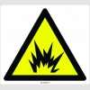PF1091 - Patlama Tehlikesi İşareti