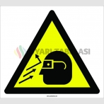 PF1106 - Dikkat! Göze Çapak Sıçrama Tehlikesi İşareti