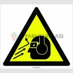PF1107 - Dikkat! Göz Yaralanması ve İşitme Kaybı Tehlikesi İşareti