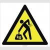 PF1159 - Dikkat! Ağır Yükleri Elle Kaldırmak Bel İncinmesine Neden Olabilir İşareti