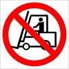 PF1114 - Forklift Giremez İşareti/Levhası/Etiketi