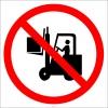 PF1115 - Forklift Çatalı Yukarıda İken Hareket Etmeyin İşareti