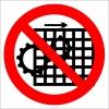 PF1119 - Makina Koruyucularını Çıkarma İşareti/Levhası/Etiketi