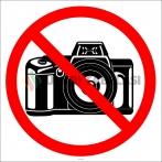 PF1122 - Fotoğraf Çekmek Yasaktır İşareti/Levhası/Etiketi