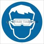 PF1124 - Koruyucu Gözlük Kullan İşareti/Levhası/Etiketi