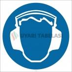 PF1125 - Koruyucu Kulaklık Kullan İşareti Levhası/Etiketi