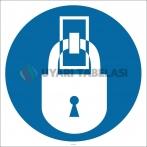 PF1128 - Kilitli Tut İşareti/Levhası/Etiketi