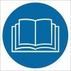 PF1132 - Kitapçığı, Rehberi, Kılavuzu Okuyun İşareti/Levhası/Etiketi