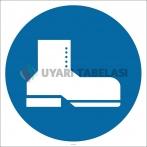 PF1133 - Koruyucu Ayakkabı Giy İşareti/Levhası/Etiketi