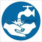 PF1144 - Ellerinizi Yıkayın İşareti/Levhası/Etiketi