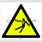 PF1145 - Dikkat! Elektrik Çarpma Tehlikesi İşareti