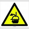 PF1146 - Dikkat! Yukarıdan Malzeme Düşme Tehlikesi İşareti