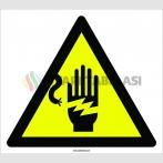 PF1147 - Dikkat! Elektrik Çarpma Tehlikesi İşareti
