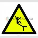 PF1150 - Dikkat! Yüksekten Düşme Tehlikesi İşareti