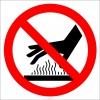 PF1152 - Sıcak Dokunmayın İşareti/Levhası/Etiketi