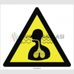 PF1162 - Dikkat! Soluma Tehlikesi İşareti