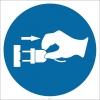 PF1161 - Kabloyu Fişten Tutarak Çıkarın İşareti/Levhası/Etiketi