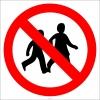 PF1164 - Çocuklar Giremez İşareti/Levhası/Etiketi