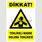 PF1181 - Dikkat! Tehlikeli Madde Soluma Tehlikesi