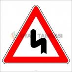 PF1213 - Sola Tehlikeli Devamlı Virajlar Trafik Levhası