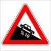 PF1215 - Tehlikeli Eğim (İniş) Trafik Levhası