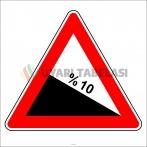 PF1217 - Tehlikeli Eğim (İniş) Trafik Levhası